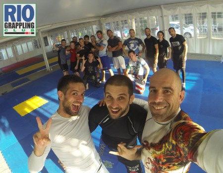 Davor, Gianluca and Roberto after Drills class. Italy 2014